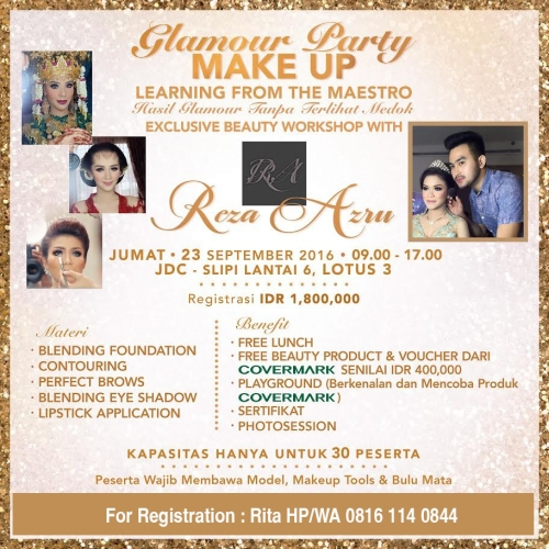 Glamour Party Make up Workshop with Reza Azru